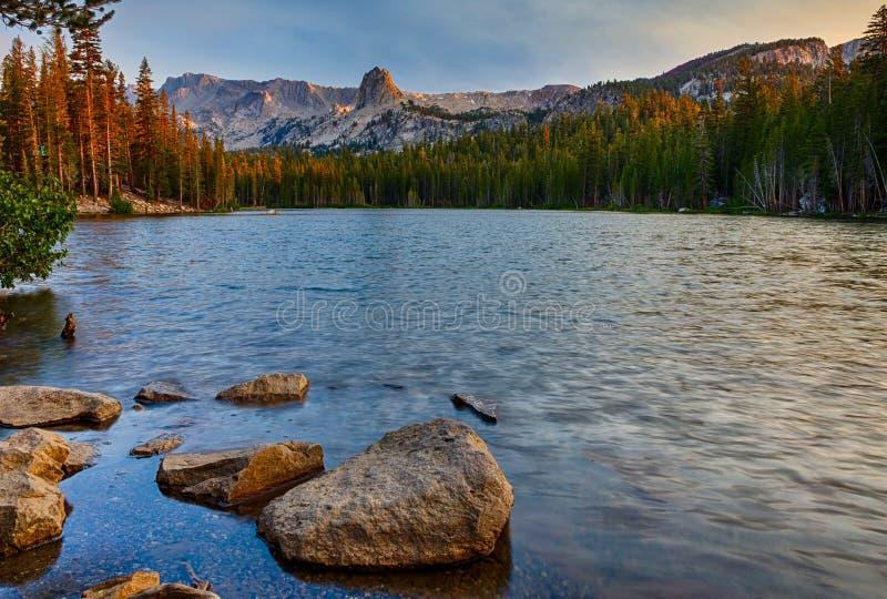 Ανατολή της Mamie λιμνών στοκ φωτογραφία