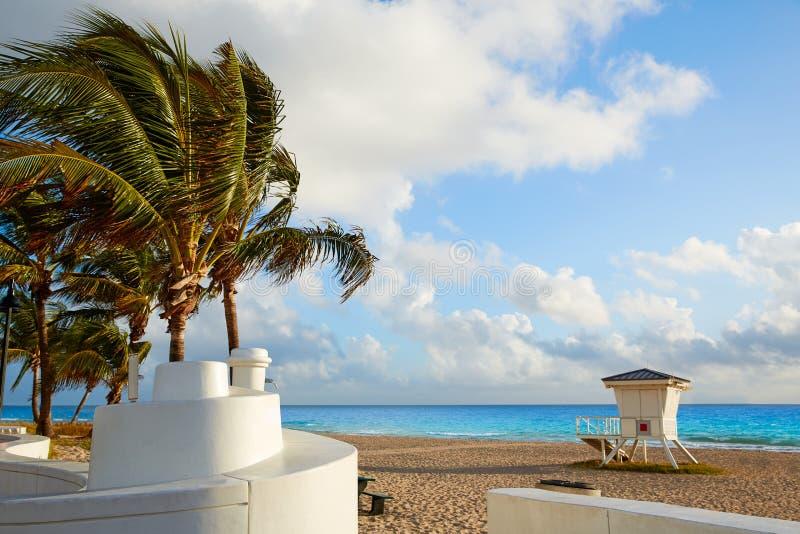 Ανατολή Φλώριδα ΗΠΑ παραλιών του Fort Lauderdale στοκ φωτογραφίες