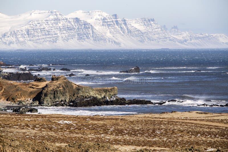 ανατολικά φιορδ Ισλανδί&a στοκ εικόνες