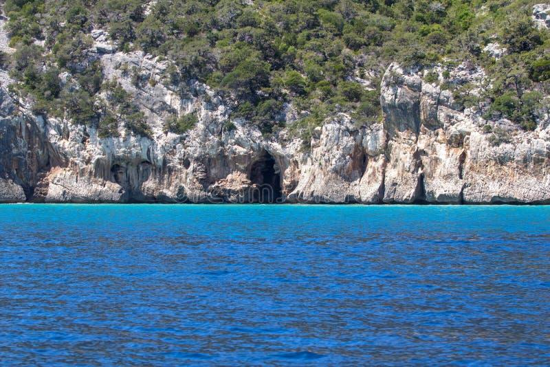 Ανατολική ακτή στο νησί της Σαρδηνίας, Ιταλία στοκ εικόνες