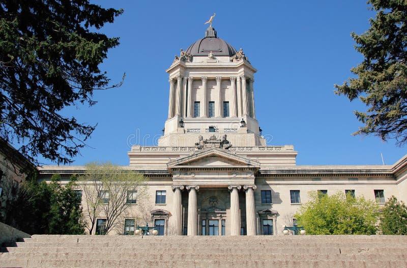 Ανατολική πλευρά του νομοθετικού κτηρίου του Manitoba στοκ φωτογραφία με δικαίωμα ελεύθερης χρήσης