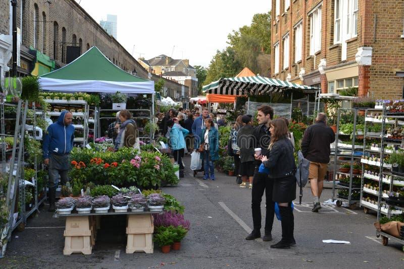 Ανατολικό Λονδίνο αγοράς οδικών λουλουδιών της Κολούμπια στοκ εικόνες