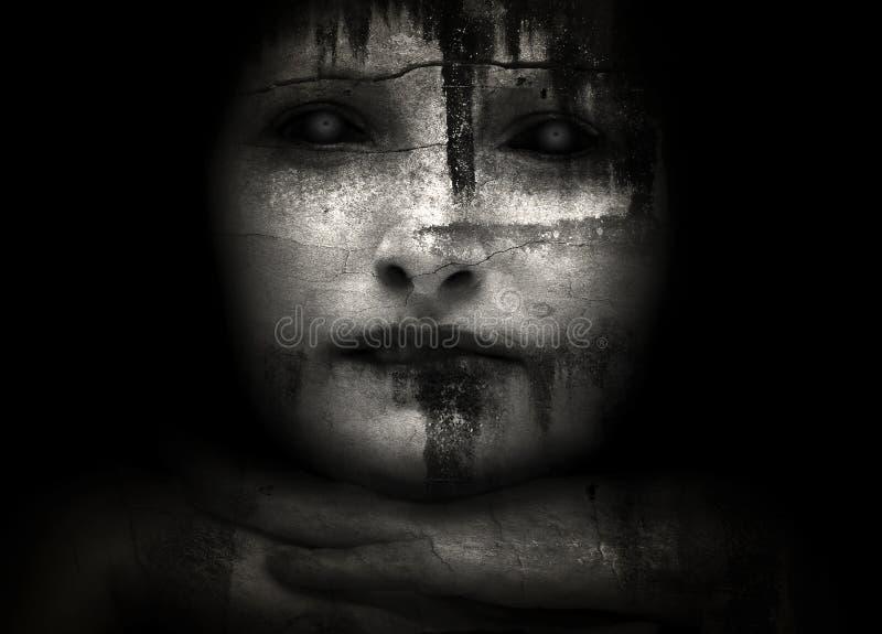 ανατριχιαστικές γυναίκ&epsilon διανυσματική απεικόνιση