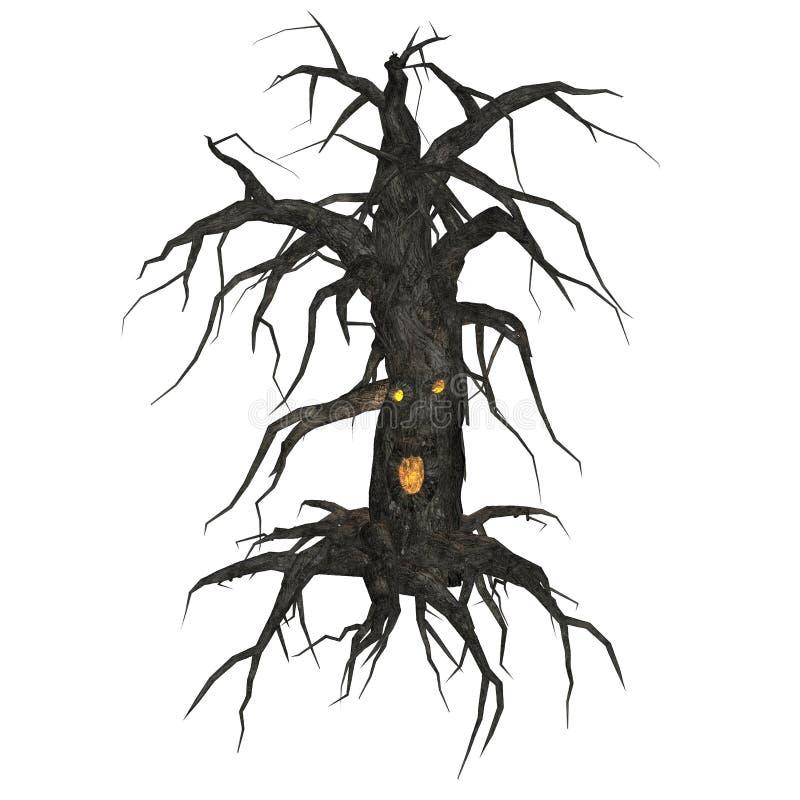 Ανατριχιαστικό δέντρο KRW διανυσματική απεικόνιση
