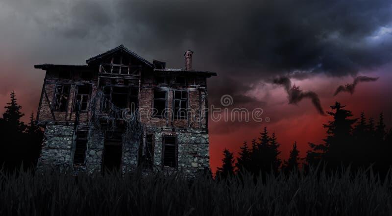 Ανατριχιαστικό παλαιό σπίτι στοκ εικόνες με δικαίωμα ελεύθερης χρήσης