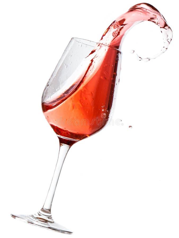 Ανατροπή κόκκινου κρασιού στοκ φωτογραφίες με δικαίωμα ελεύθερης χρήσης
