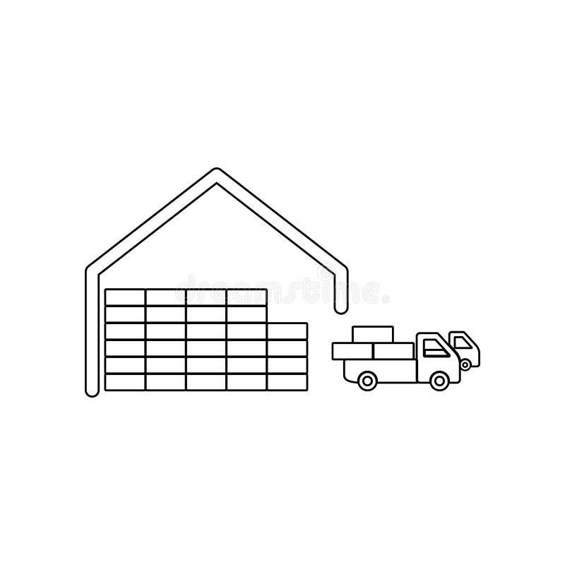 Αναχώρηση των αυτοκινήτων από ένα εικονίδιο αποθηκών εμπορευμάτων Στοιχείο λογιστικού για το κινητό εικονίδιο έννοιας και Ιστού a ελεύθερη απεικόνιση δικαιώματος