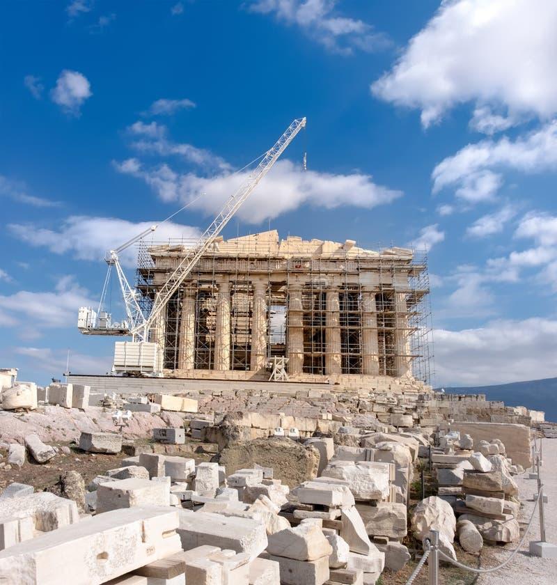 Αναδημιουργία του ναού Parthenon στην ακρόπολη της Αθήνας στοκ εικόνα με δικαίωμα ελεύθερης χρήσης
