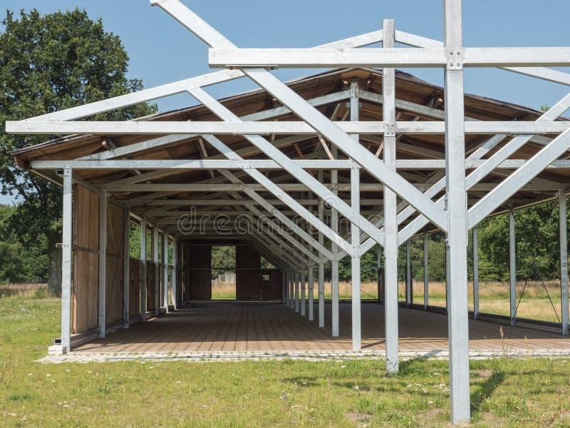 Αναδημιουργημένες αποδοκιμασίες στο προηγούμενο ναζιστικό στρατόπεδο Westerbork διέλευσης στοκ φωτογραφία με δικαίωμα ελεύθερης χρήσης