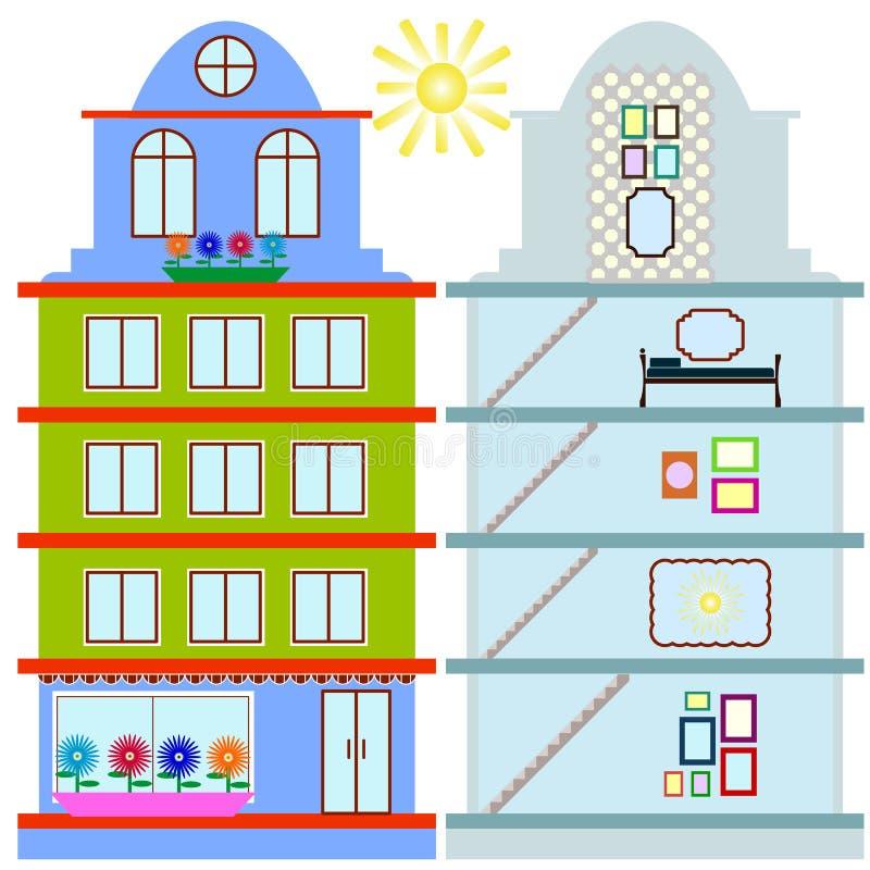 Αναδιαμόρφωση σπιτιών infographic Καθορισμένα επίπεδα εσωτερικά στοιχεία για το cre ελεύθερη απεικόνιση δικαιώματος