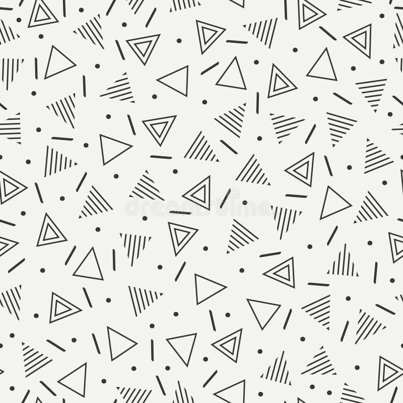 Αναδρομικά άνευ ραφής σχέδια μορφών γραμμών της Μέμφιδας γεωμετρικά Η 80-δεκαετία του '90 μόδας Hipster Αφηρημένες jumble συστάσε απεικόνιση αποθεμάτων