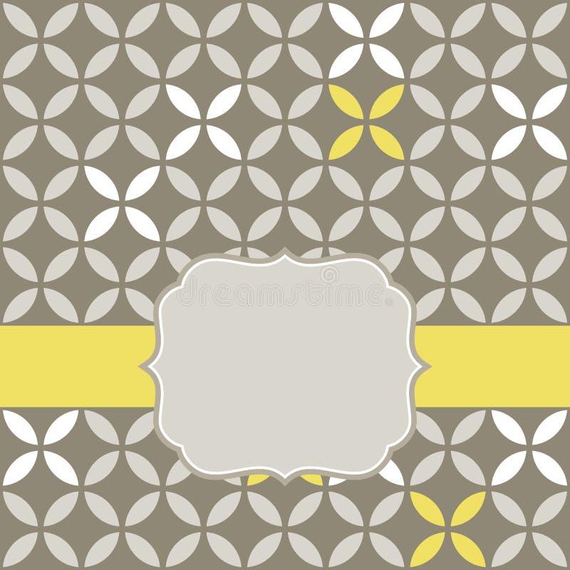Αναδρομικά άσπρα μπεζ κίτρινα φύλλα με το γκρίζο κενό Λα απεικόνιση αποθεμάτων