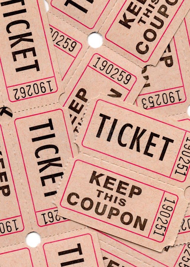 Αναδρομικά εκλεκτής ποιότητας εισιτήρια και δελτία στοκ φωτογραφία