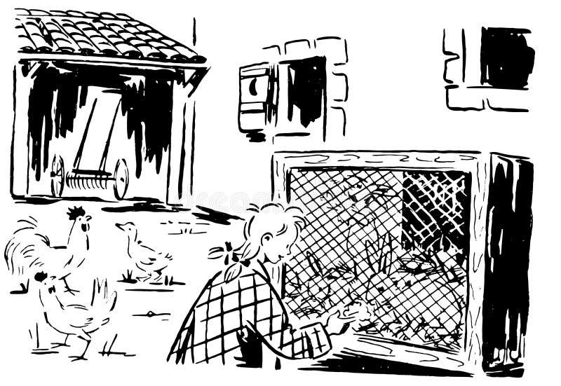 Αναδρομικά ζώα αγροκτημάτων 01 απεικόνιση αποθεμάτων