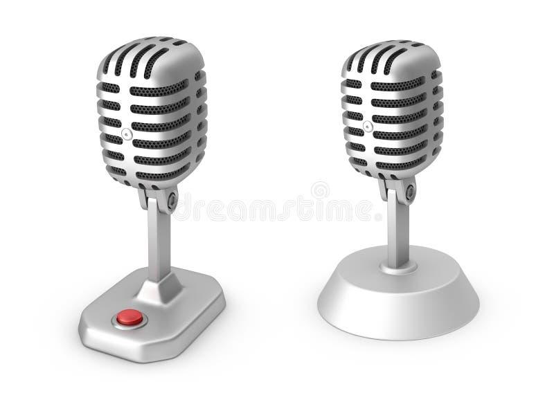 Αναδρομικά μικρόφωνα ελεύθερη απεικόνιση δικαιώματος