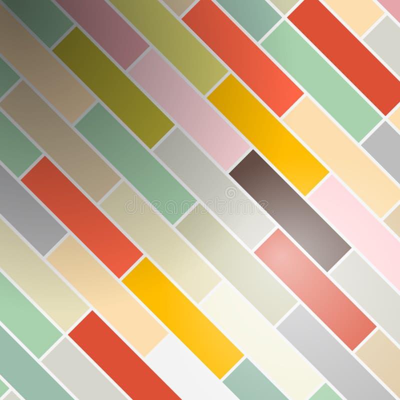 Αναδρομικά ορθογώνια - υπόβαθρο τούβλων απεικόνιση αποθεμάτων