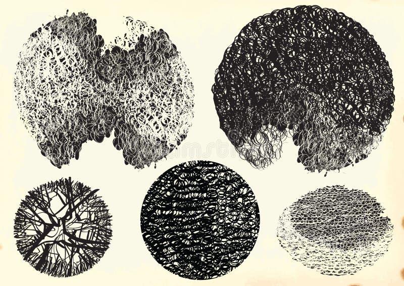 Αναδρομικά στοιχεία - συρμένο χέρι διανυσματικό πακέτο διανυσματική απεικόνιση