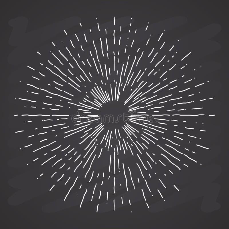 Αναδρομικές εκρήξεις ήλιων, εκλεκτής ποιότητας ακτινοβόλος μορφή ακτίνων ήλιων για το λογότυπο ελεύθερη απεικόνιση δικαιώματος