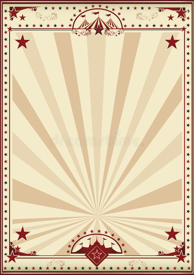 Αναδρομικές ηλιαχτίδες αφισών τσίρκων απεικόνιση αποθεμάτων