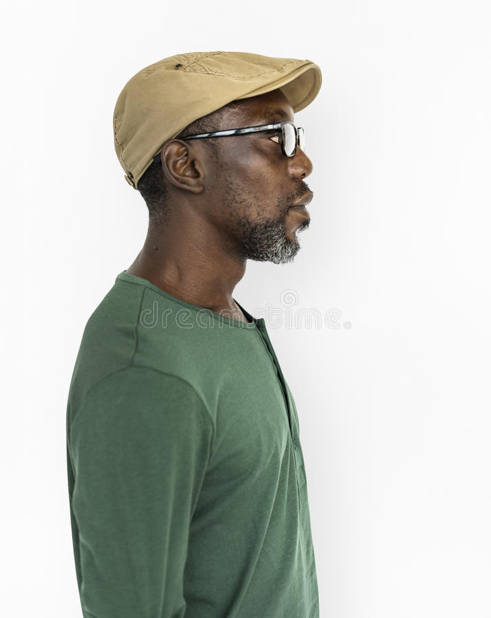 Αναδρομική έννοια ατόμων παλαιός-μόδας περιστασιακή ανώτερη αφρικανική στοκ εικόνα με δικαίωμα ελεύθερης χρήσης