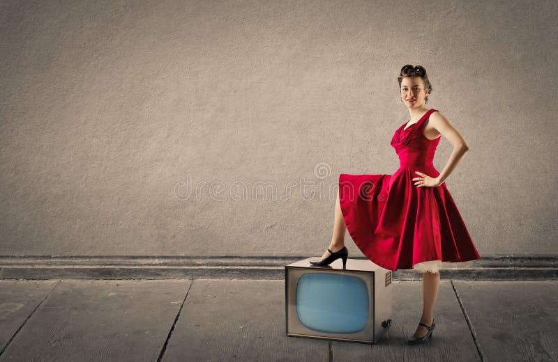 αναδρομική γυναίκα στοκ εικόνες με δικαίωμα ελεύθερης χρήσης
