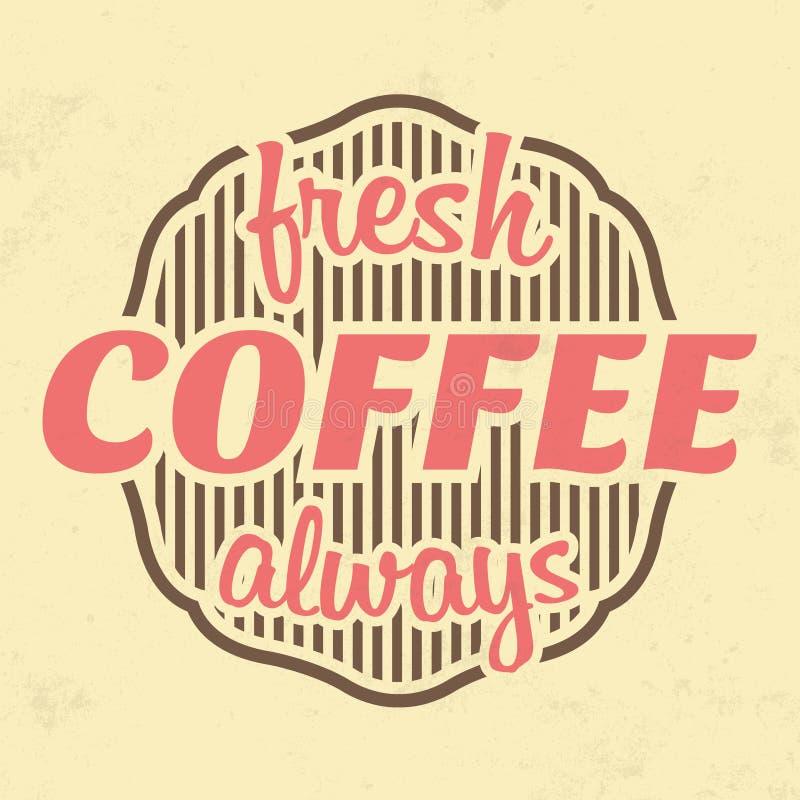 Αναδρομική ετικέτα καφέ - εκλεκτής ποιότητας υπόβαθρο διανυσματική απεικόνιση