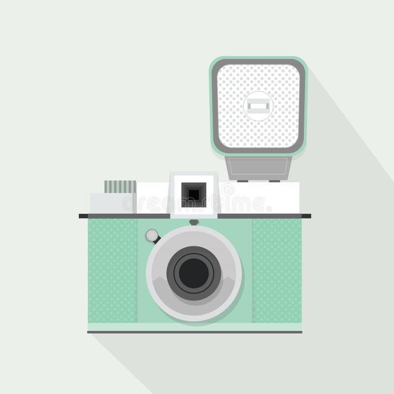 Αναδρομική ελαφριά κάμερα κιρκιριών με τη λάμψη και τη μακροχρόνια σκιά απεικόνιση αποθεμάτων