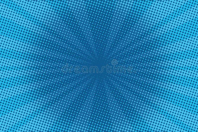 Αναδρομική κωμική μπλε κλίση ράστερ υποβάθρου ημίτοή ελεύθερη απεικόνιση δικαιώματος