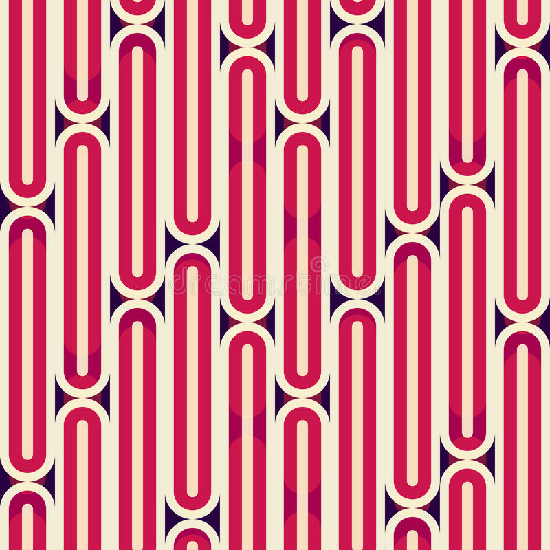Αναδρομική κόκκινη άνευ ραφής σύσταση λωρίδων διανυσματική απεικόνιση