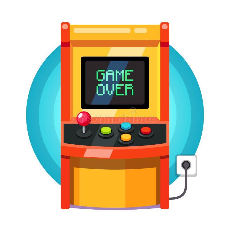 Αναδρομική μηχανή arcade που συνδέεται απεικόνιση αποθεμάτων