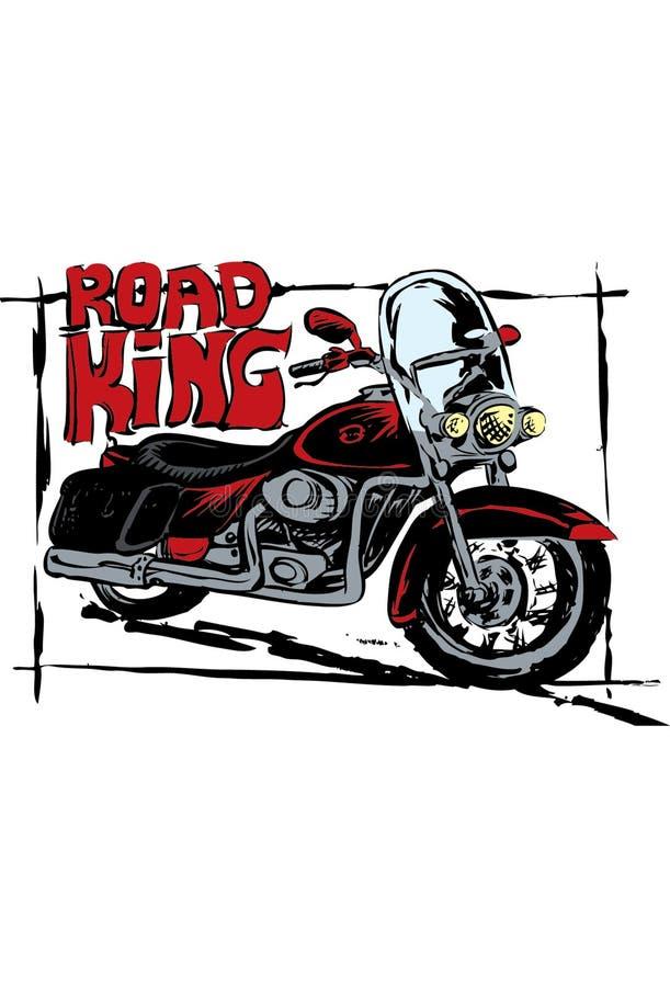 Αναδρομική μοτοσικλέτα στο σκίτσο ελεύθερη απεικόνιση δικαιώματος