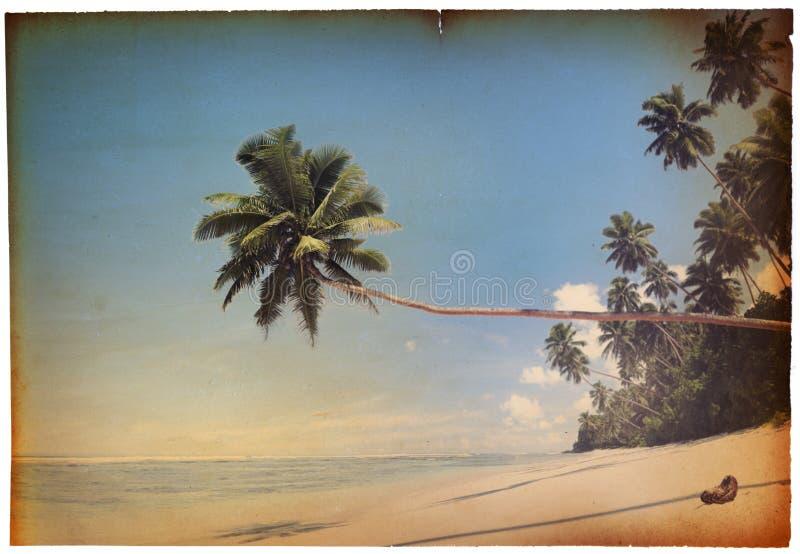 Αναδρομική παραλία στοκ εικόνα