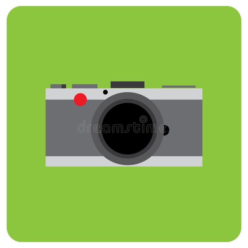 Αναδρομική ψηφιακή κάμερα με το μαύρο δέρμα στοκ εικόνα