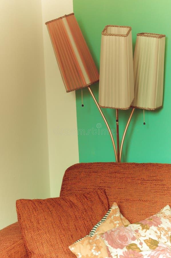Αναδρομικός λαμπτήρας πατωμάτων από τη δεκαετία του '60 στοκ φωτογραφία
