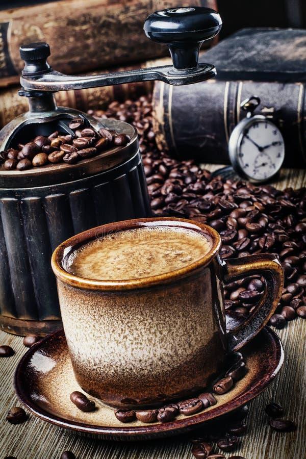 Αναδρομικός καφές στοκ εικόνες