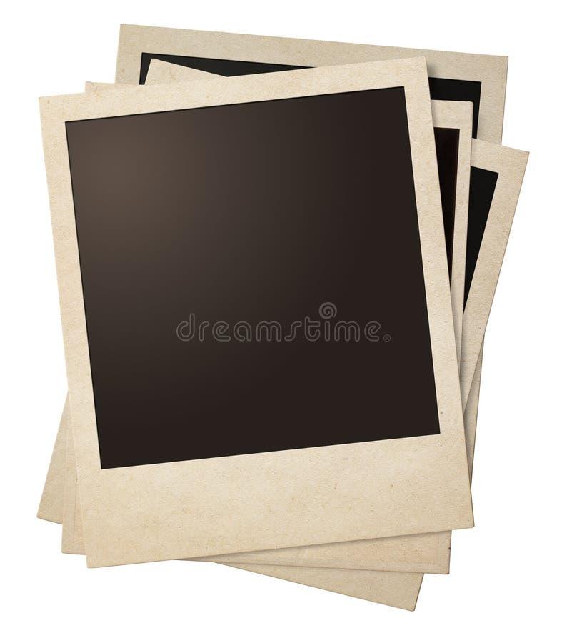 Αναδρομικός σωρός πλαισίων φωτογραφιών Polaroid στοκ φωτογραφίες
