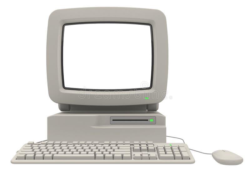 Αναδρομικός υπολογιστής στοκ εικόνες