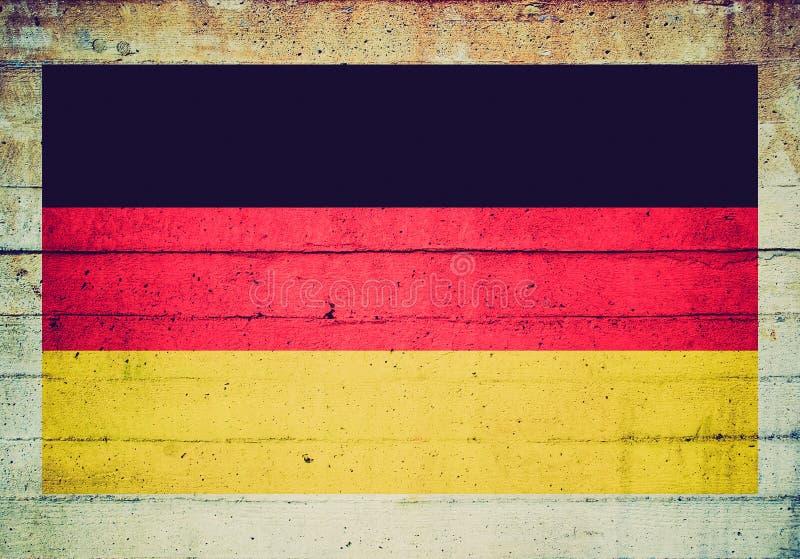 Αναδρομικός φανείτε γερμανική σημαία στοκ εικόνα με δικαίωμα ελεύθερης χρήσης