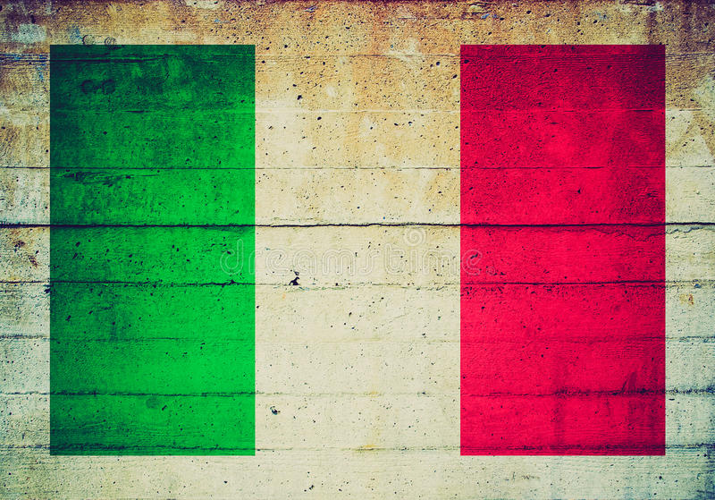 Αναδρομικός φανείτε ιταλική σημαία στοκ φωτογραφία