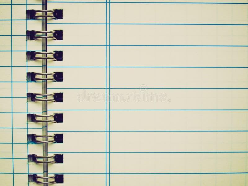 Αναδρομικός φανείτε κενή σελίδα σημειωματάριων στοκ εικόνα με δικαίωμα ελεύθερης χρήσης