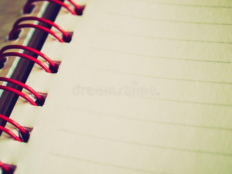 Αναδρομικός φανείτε κενή σελίδα σημειωματάριων στοκ φωτογραφία με δικαίωμα ελεύθερης χρήσης