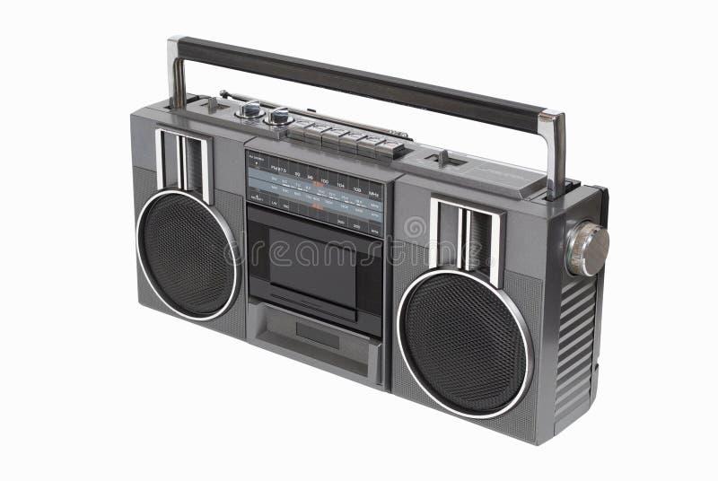 Παλαιός ραδιο φορέας κασετών στοκ εικόνα με δικαίωμα ελεύθερης χρήσης