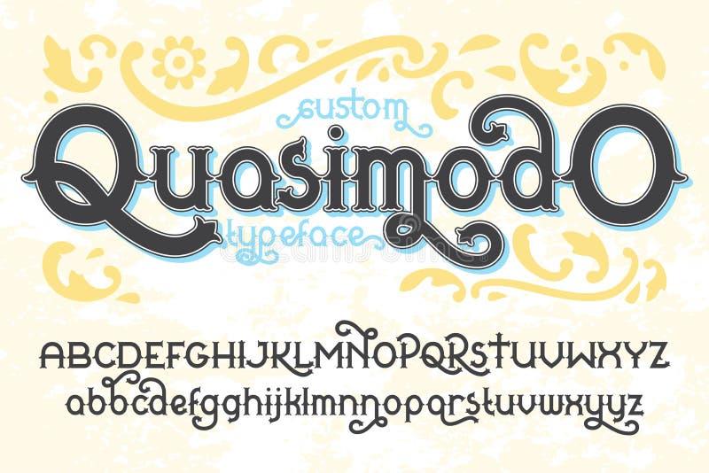 Αναδρομικός χαρακτήρας Quasimodo συνήθειας ελεύθερη απεικόνιση δικαιώματος
