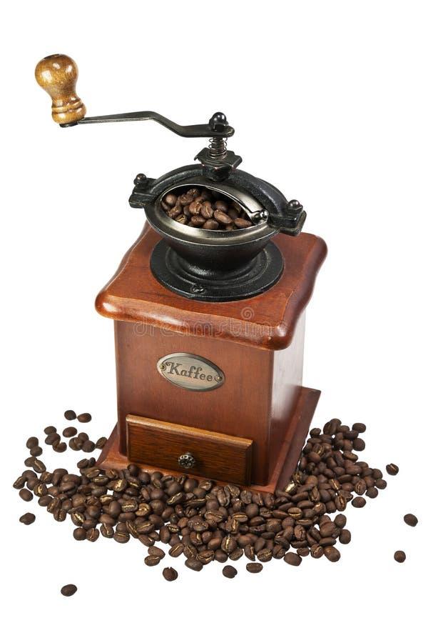Αναδρομικός χειρωνακτικός μύλος καφέ στοκ εικόνες
