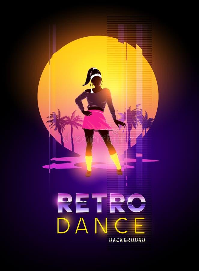 Αναδρομικός χορός του 1980 ` s ελεύθερη απεικόνιση δικαιώματος