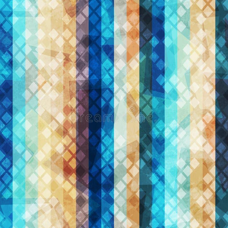 Αναδρομικό άνευ ραφής σχέδιο λωρίδων απεικόνιση αποθεμάτων