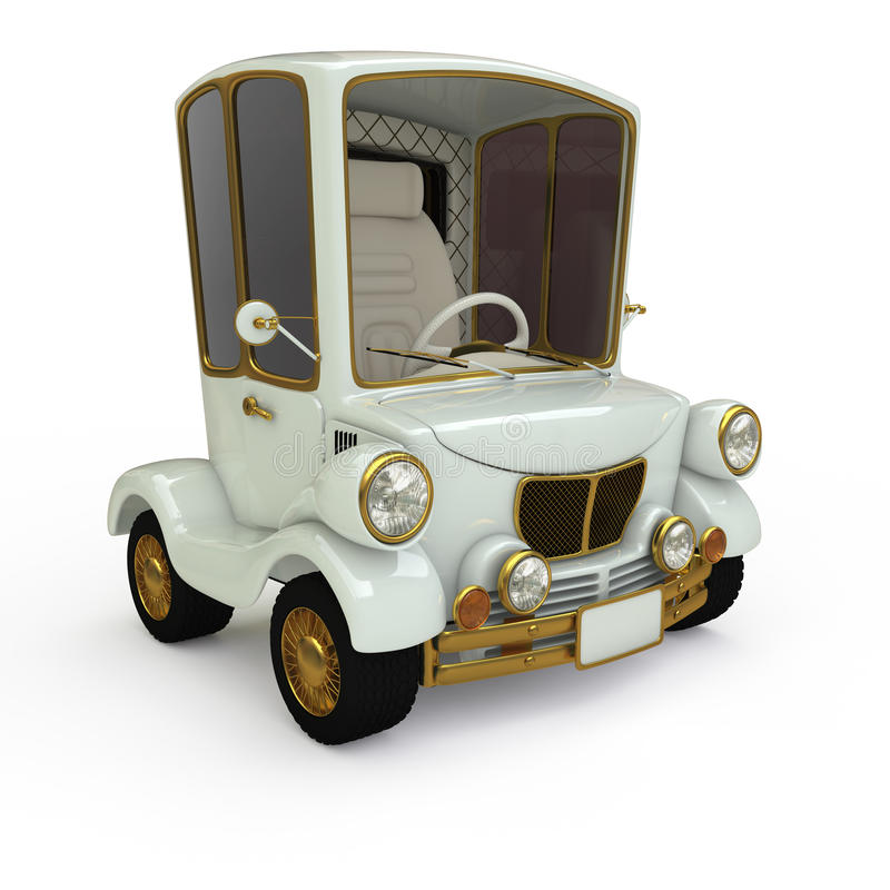 Αναδρομικό αυτοκίνητο κινούμενων σχεδίων απεικόνιση αποθεμάτων