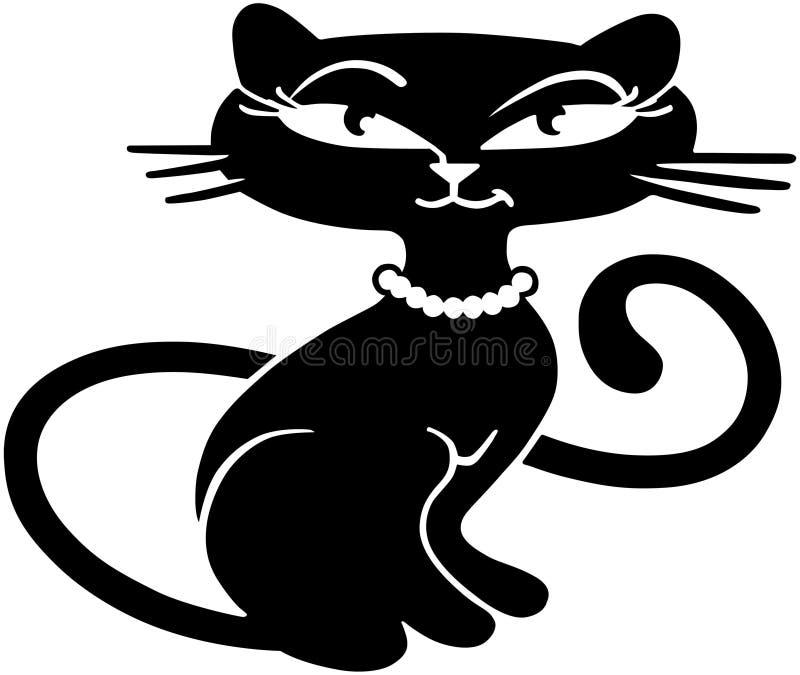 Αναδρομικό γατάκι διανυσματική απεικόνιση