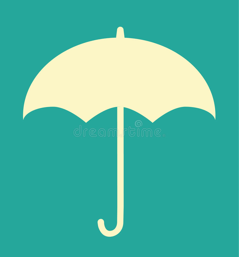 Αναδρομικό εκλεκτής ποιότητας φθινόπωρο ομπρελών απεικόνιση αποθεμάτων