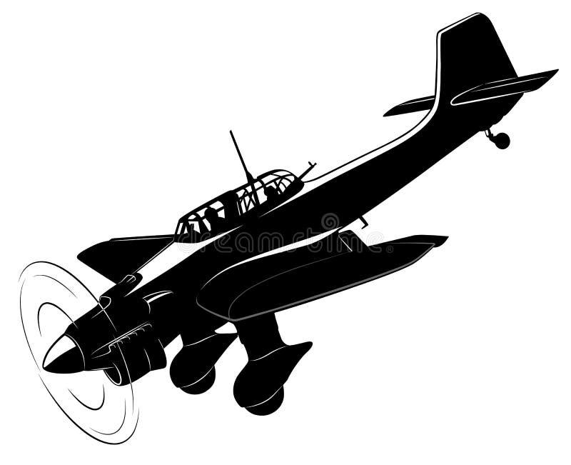 αναδρομικό διάνυσμα εγγράφου ανασκόπησης αεροπλάνων απεικόνιση αποθεμάτων